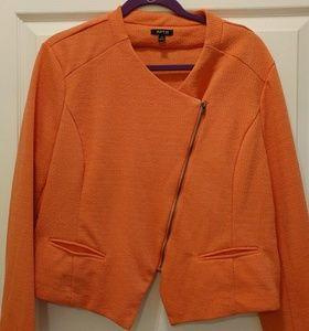Apt 9 Orange XL blazer zip up jacket